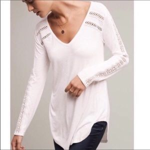 Anthropologie Deletta | Cut Out Long Sleeve Top